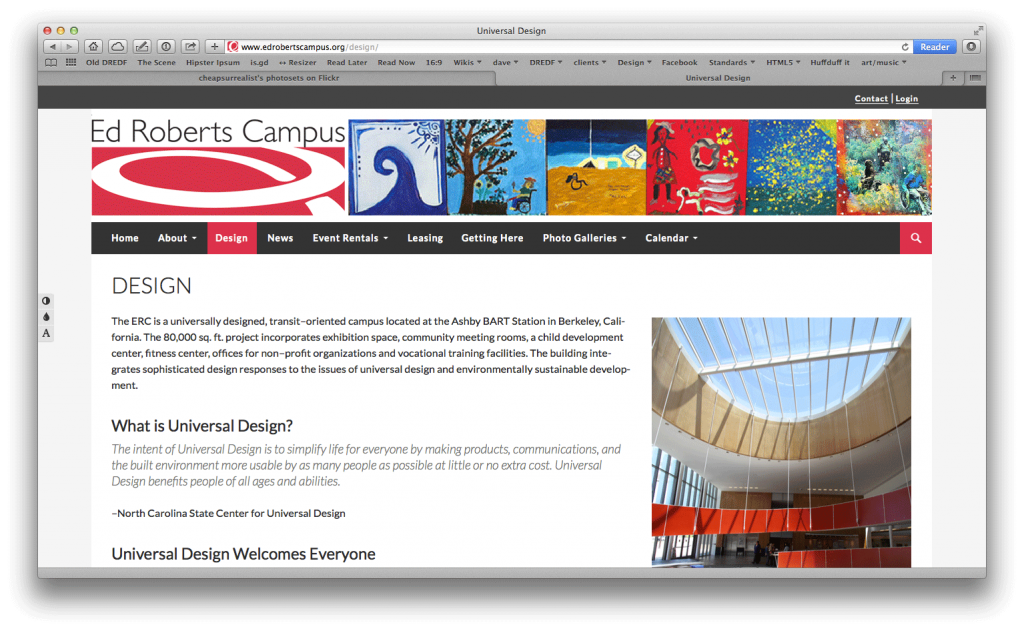 Screenshot of Ed Roberts Campus Website