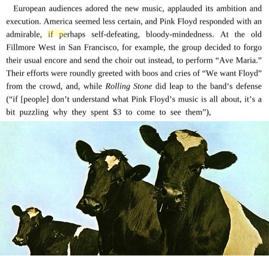 Cows on the cover of Atom Heart Mother: See Long description for more.